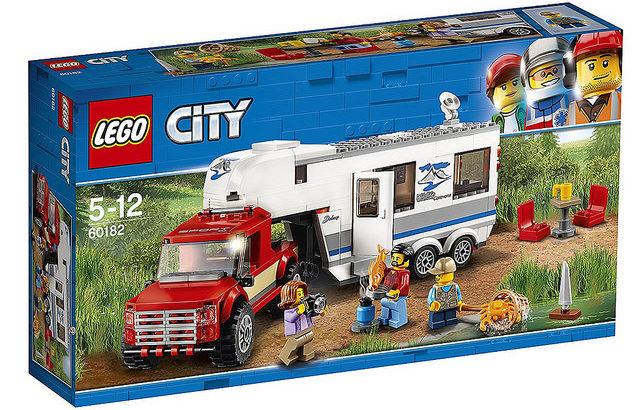 レゴ 60182 キャンプバンとピックアップトラック