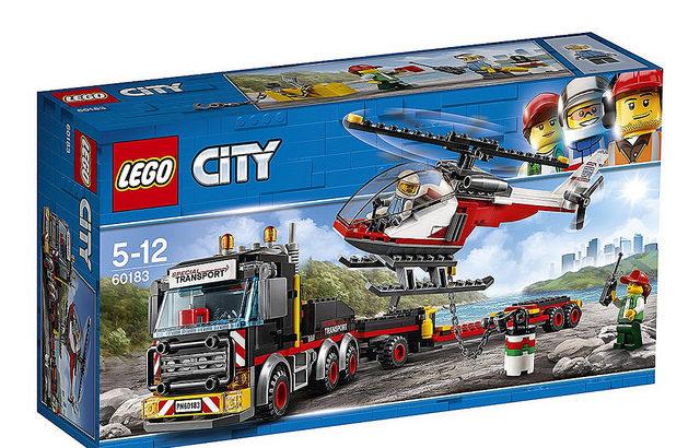 レゴ 60183 巨大貨物輸送車とヘリコプター